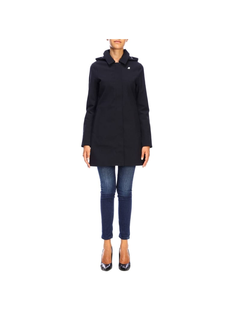 K-Way Coat Coat Women K-way - black