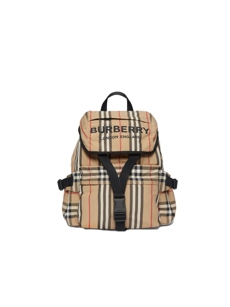 Burberry Sm Wilfin Polyamide Backpack - Archive Beige