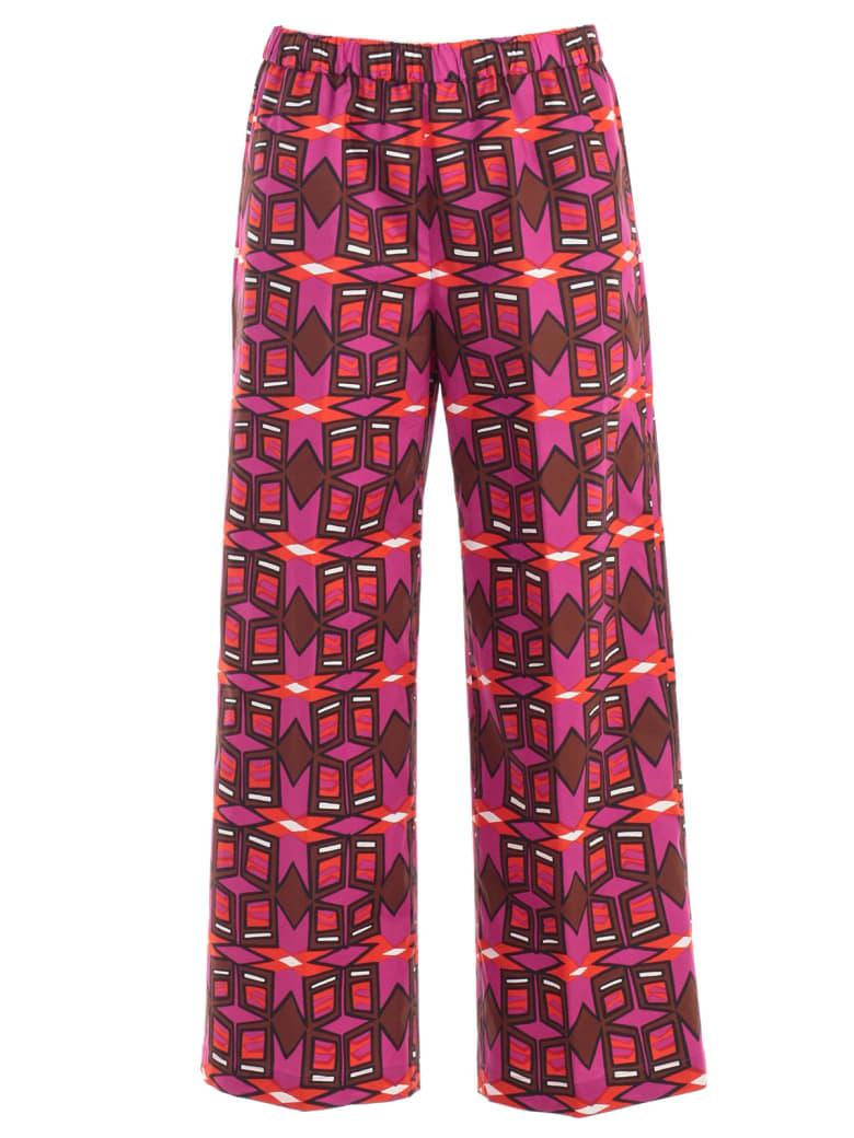 Aspesi Macro Pattern Print Trousers - Fdo Fucsia