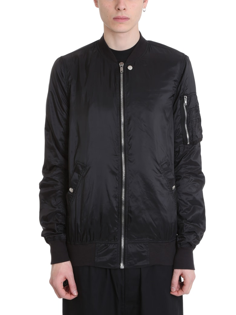 DRKSHDW Bomber Black Nylon Jacket - black