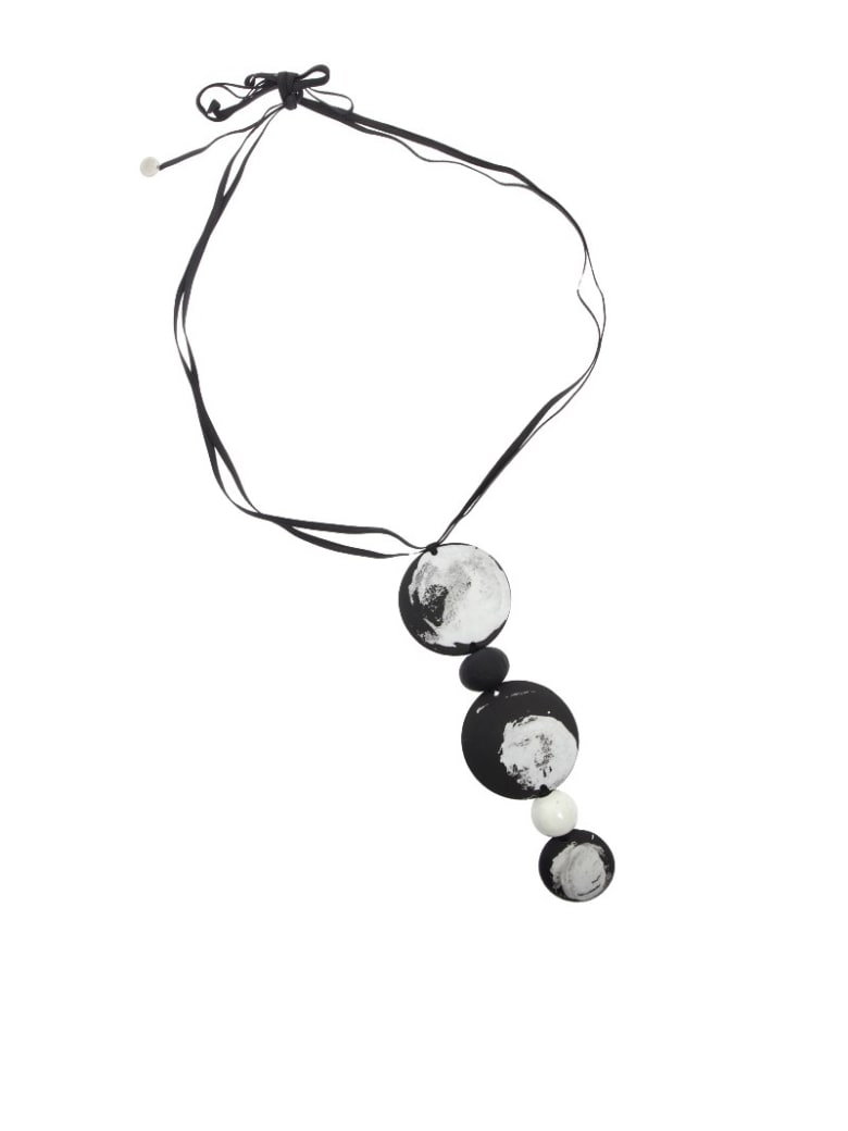 Maria Calderara - Necklace - Black and white