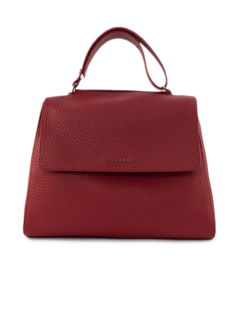 Orciani Red Leather Sveva Bag - Rosso