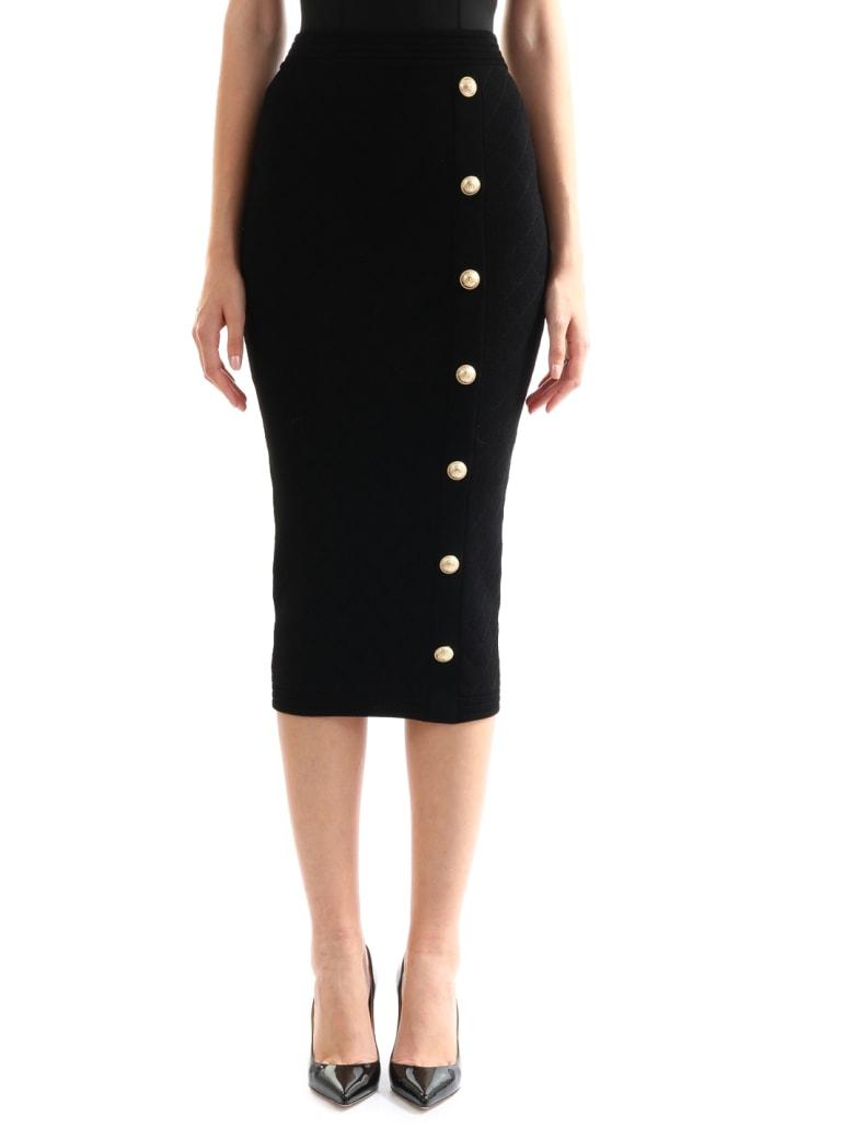 Balmain Pencil Skirt Black - Black