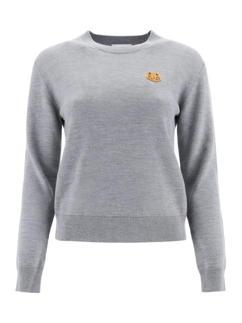 Kenzo Tiger Patch Sweater - Grigio