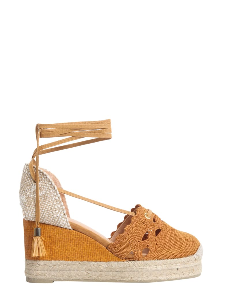 Castañer Cerezo Wedge Espadrilles - MARRONE