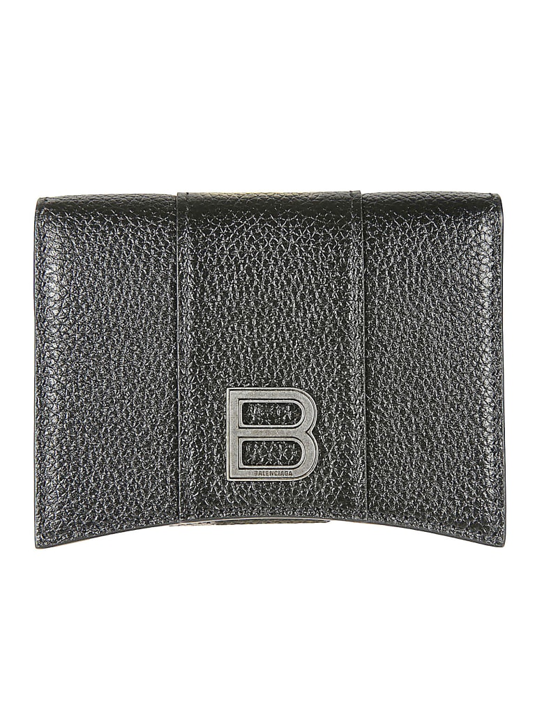 Balenciaga Flap Card Holder - Nero