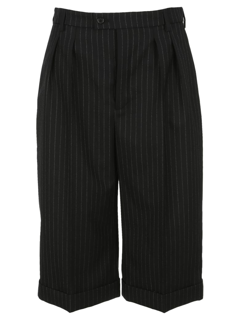 Saint Laurent Pinstripe Tailored Bermuda Shorts - Nero