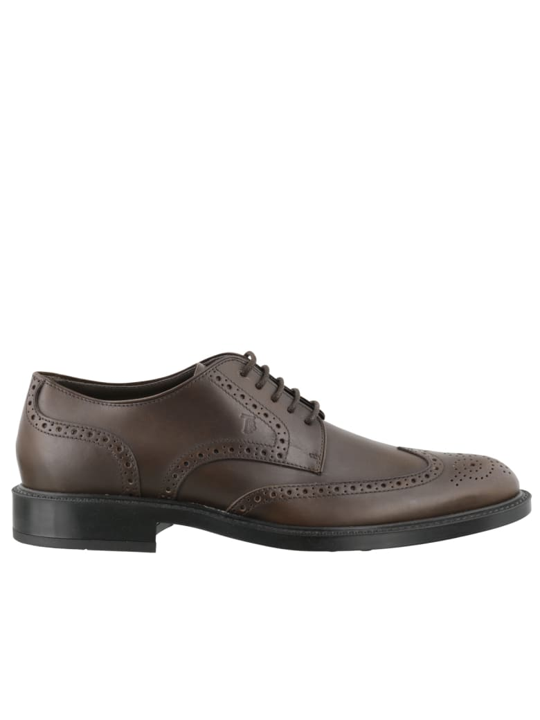Tod's Derby Bucature Laced Up Shoes - Brown