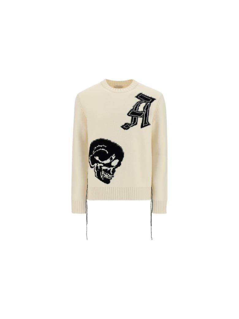 Alexander McQueen Sweater - Ivory/black
