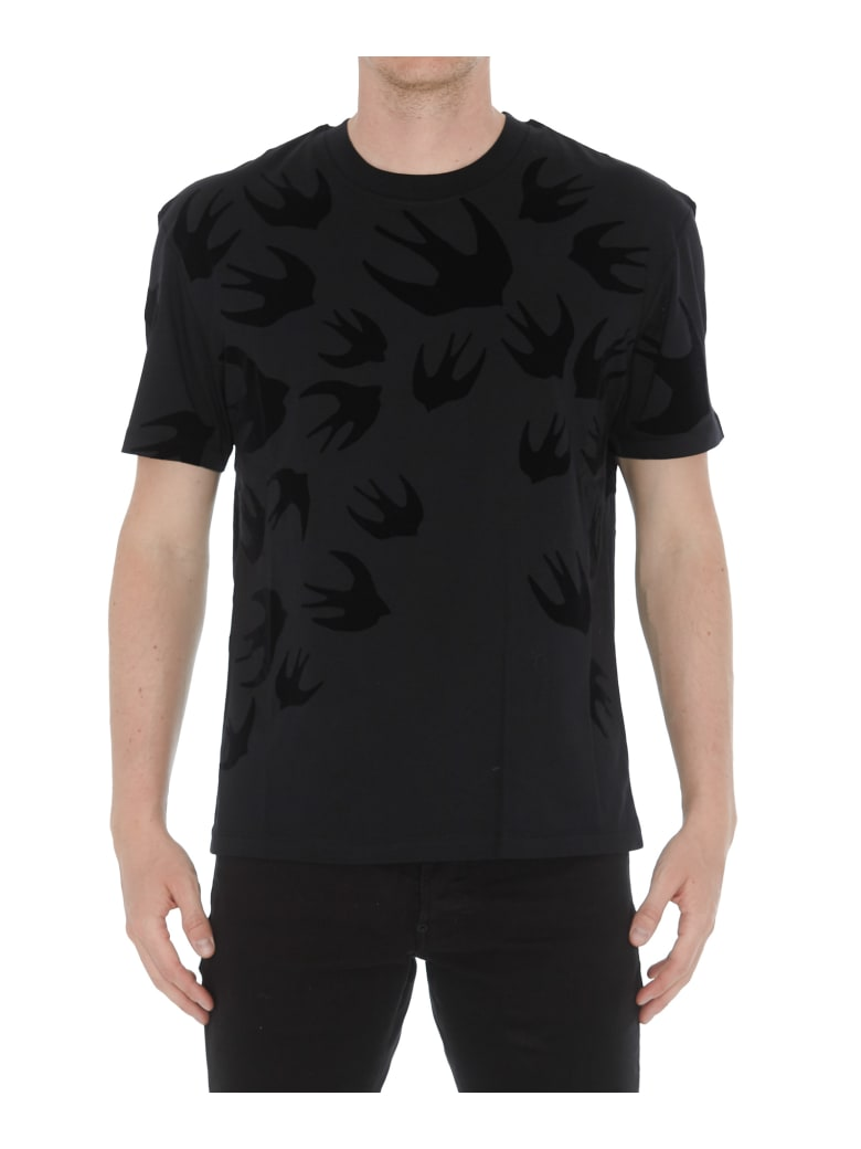 McQ Alexander McQueen Swallows Tshirt - Black