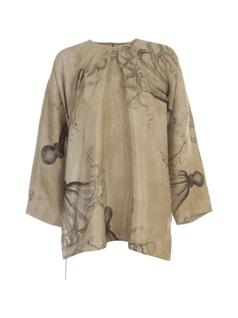 Uma Wang Tantric Oversized L/s Shirt - Light Grey Black