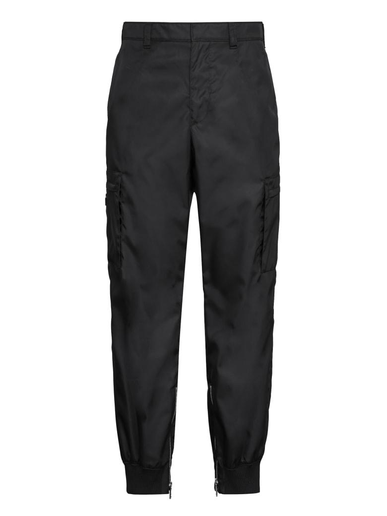 Prada Nylon Cargo Pants - black