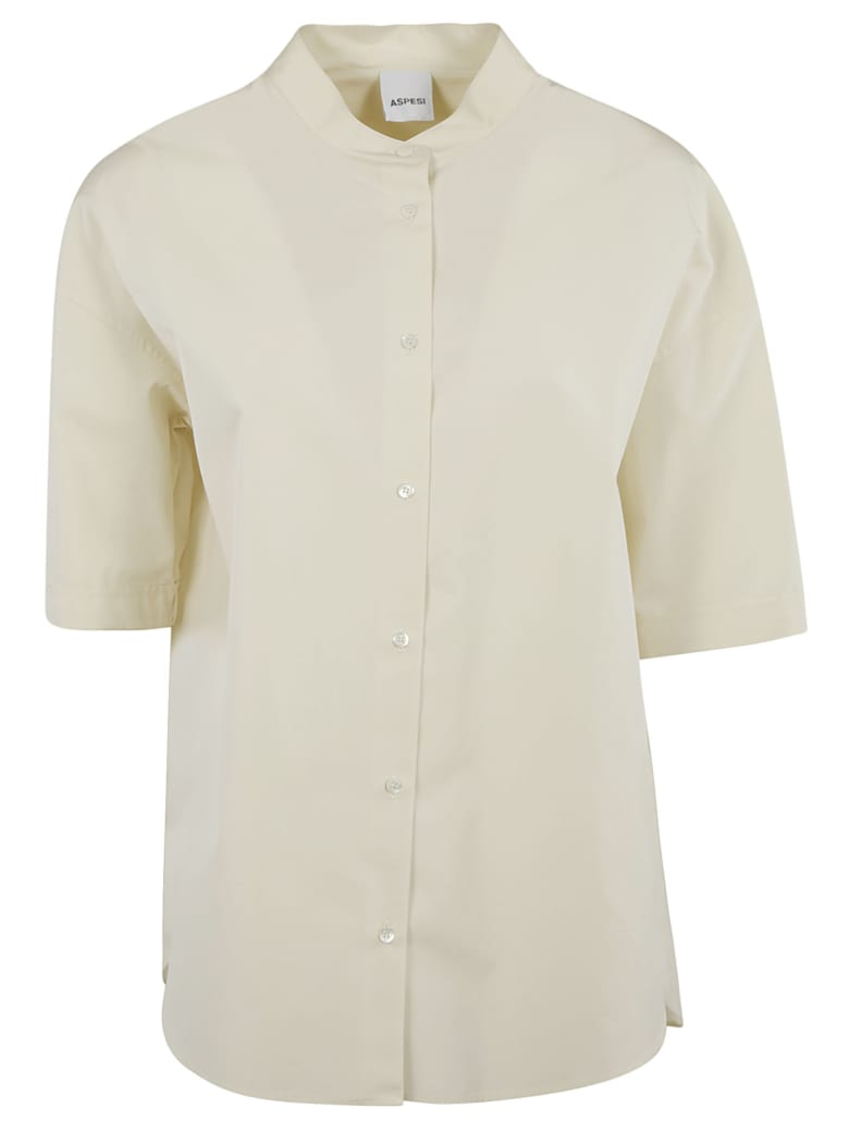Aspesi Round Collar Shirt - Natural