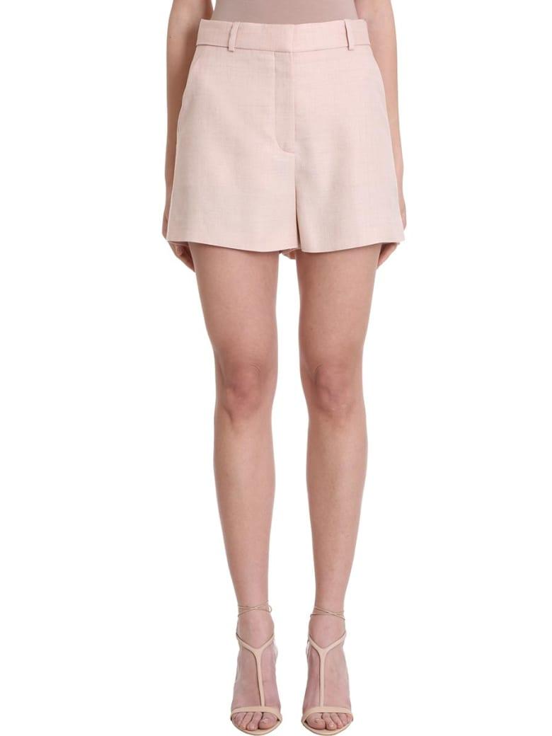 Stella McCartney Pink Linen And Cotton Shorts - powder