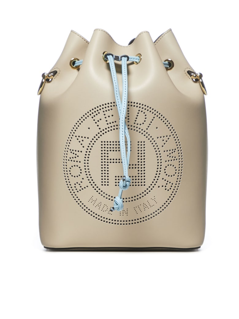 Fendi Mon Tresor With Handle Shoulder Bag - Nuvola