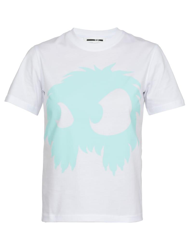 McQ Alexander McQueen Monster  T Shirt - Optic White/Aqua