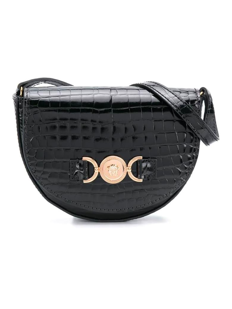 Young Versace Black Shoulder Bag - Nero/oro