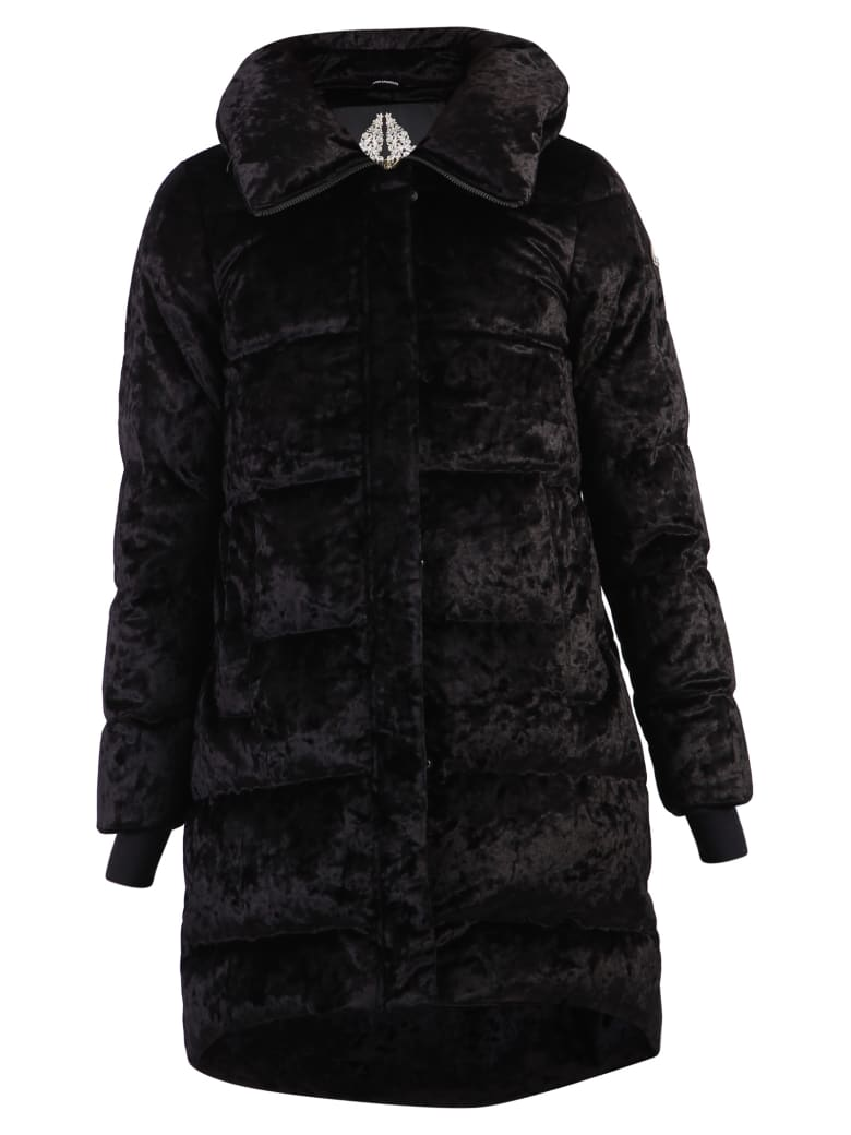 Moose Knuckles Velvet Padded Jacket - Black