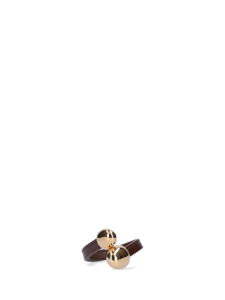 Bottega Veneta Metal Details Bracelet - Brown