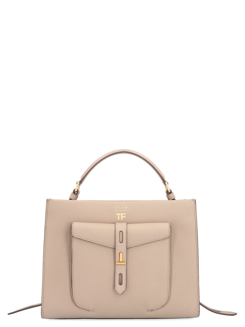 Tom Ford 'day Handle' Bag - Beige