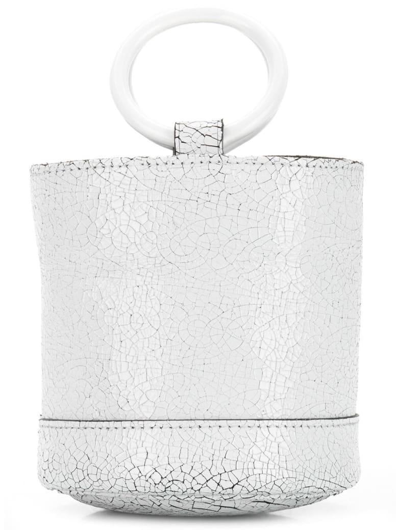 Simon Miller Cracked Effect Mini Bucket Tote - Bianco