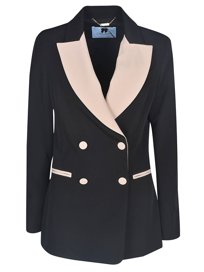 Blumarine Double-breasted Blazer - Black/Pink