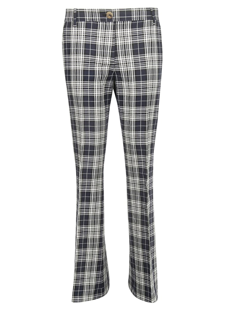 Tommy Hilfiger Checked Flared Trousers - Deep Well/Multicolor