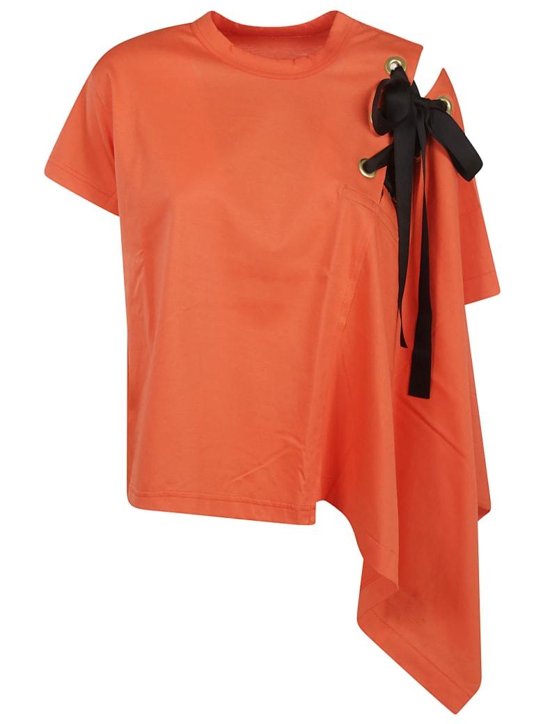 Sacai Draped Top - Orange