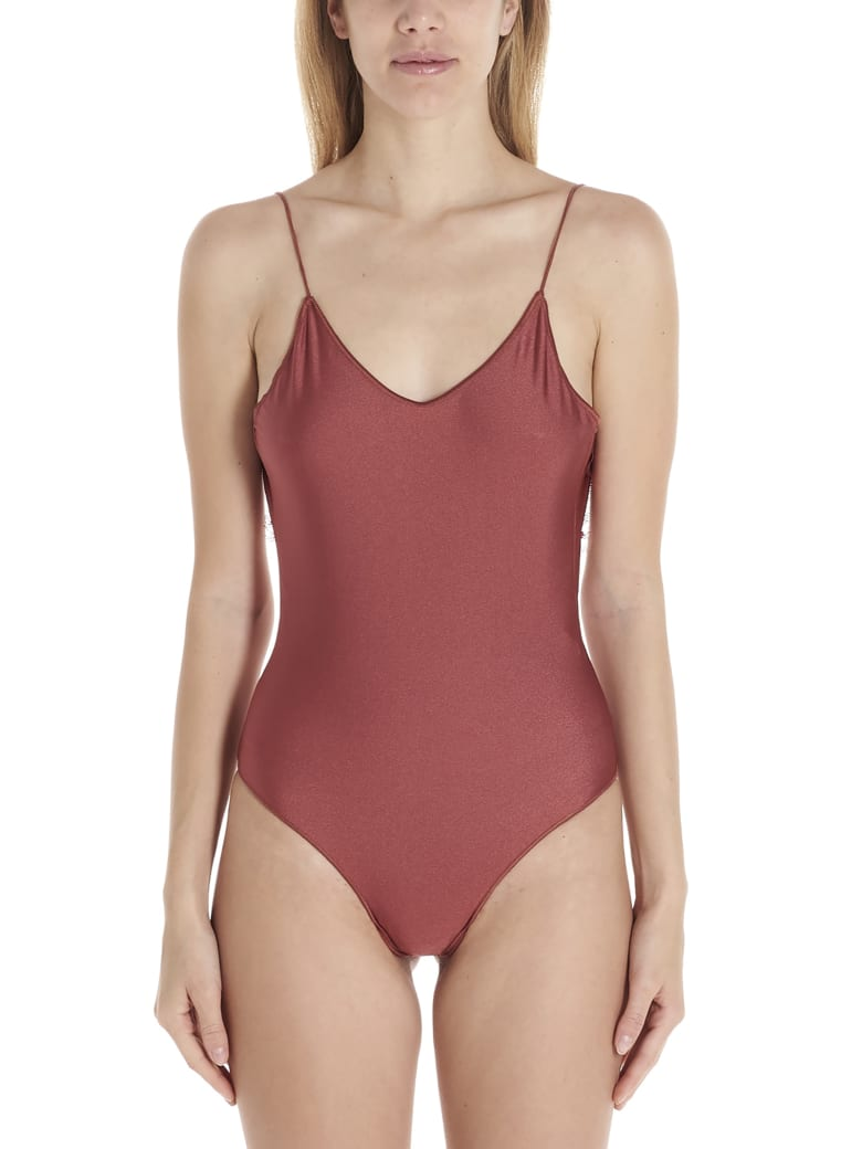 Oseree 'travaille' Swimsuits - Burgundy