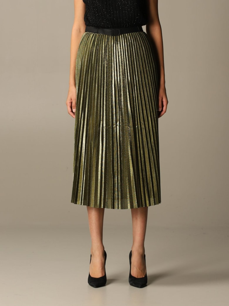 Armani Collezioni Armani Exchange Skirt Armani Exchange Skirt In Pleated Lurex Fabric - Gold