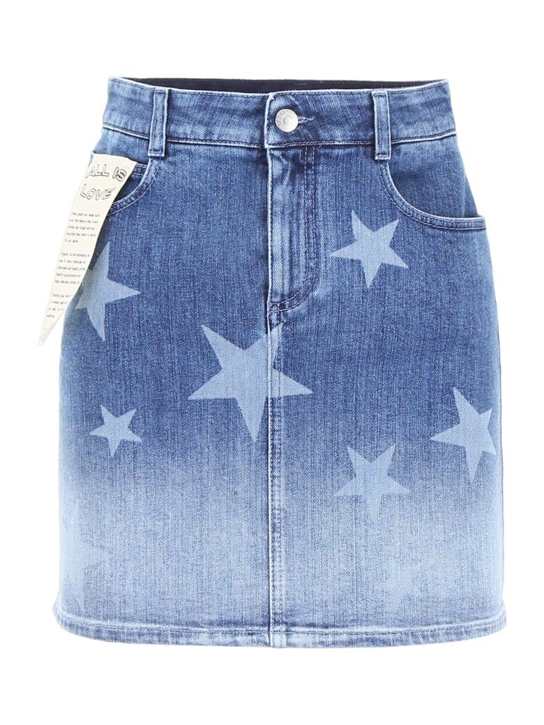 Stella McCartney Faded Denim Mini Skirt - WHITE BLUE (Blue)