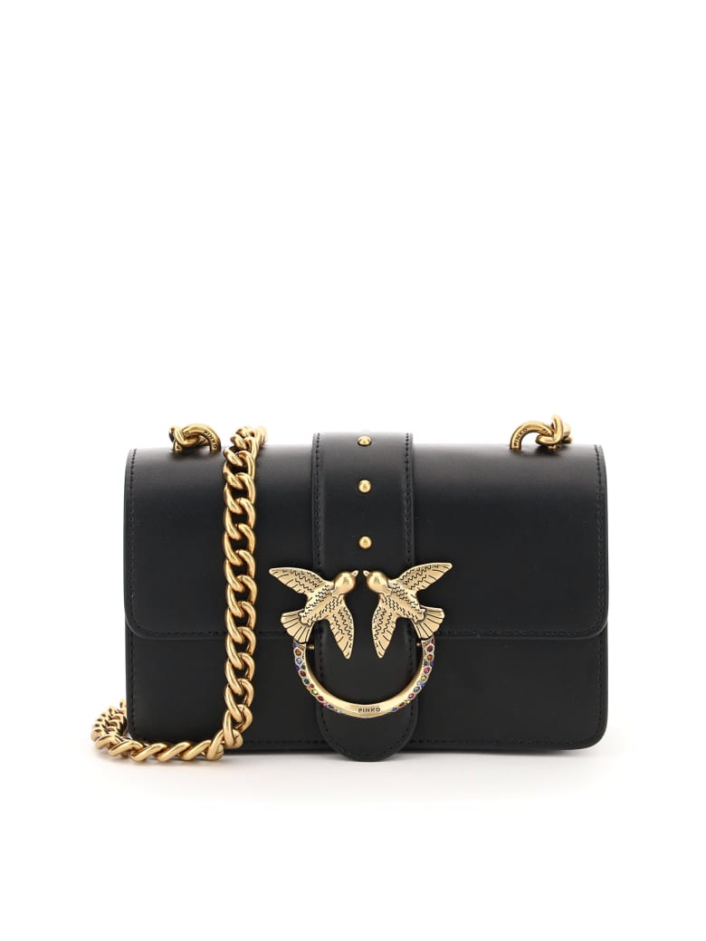 Pinko Love Mini Icon Jewel 1 Chain Bag - Black