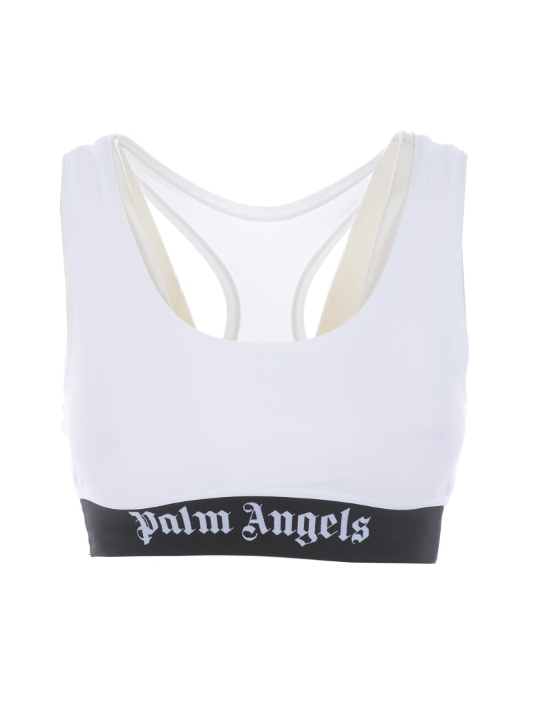 Palm Angels Top - Bianco/nero