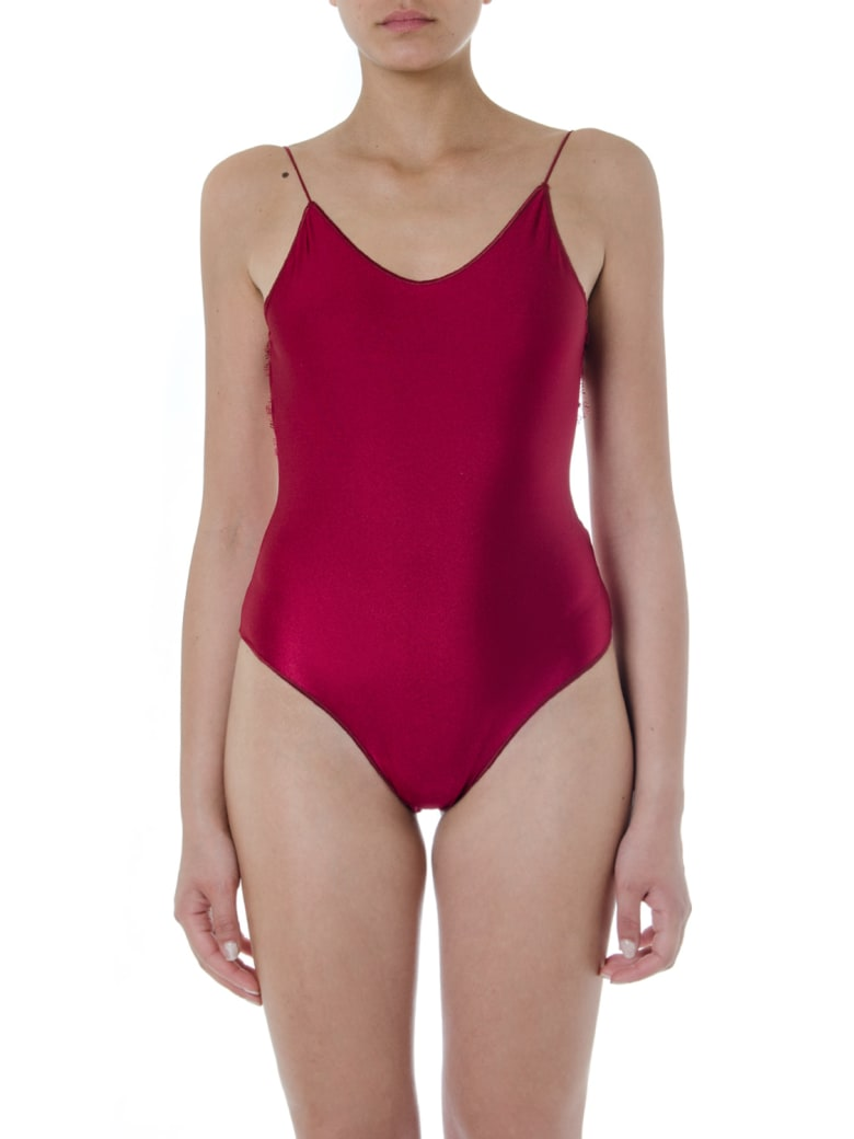 Oseree Red Travaille Swimsuit - Red