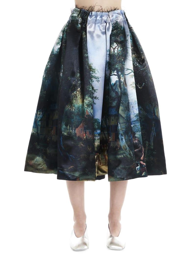 Comme des Garçons 'landscape' Skirt - Multicolor