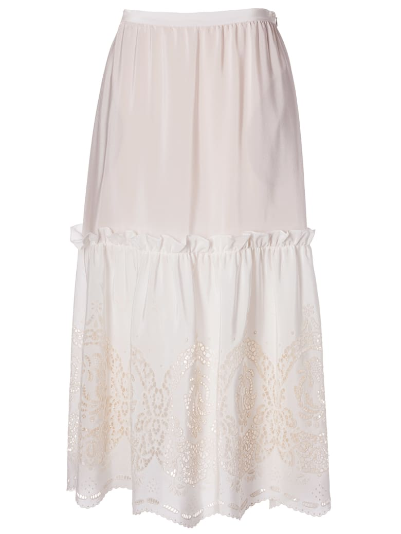 Stella McCartney Broderie Anglaise Skirt - Natural