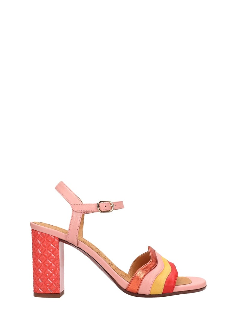 Chie Mihara Pink Leather Sandals Baola - rose-pink