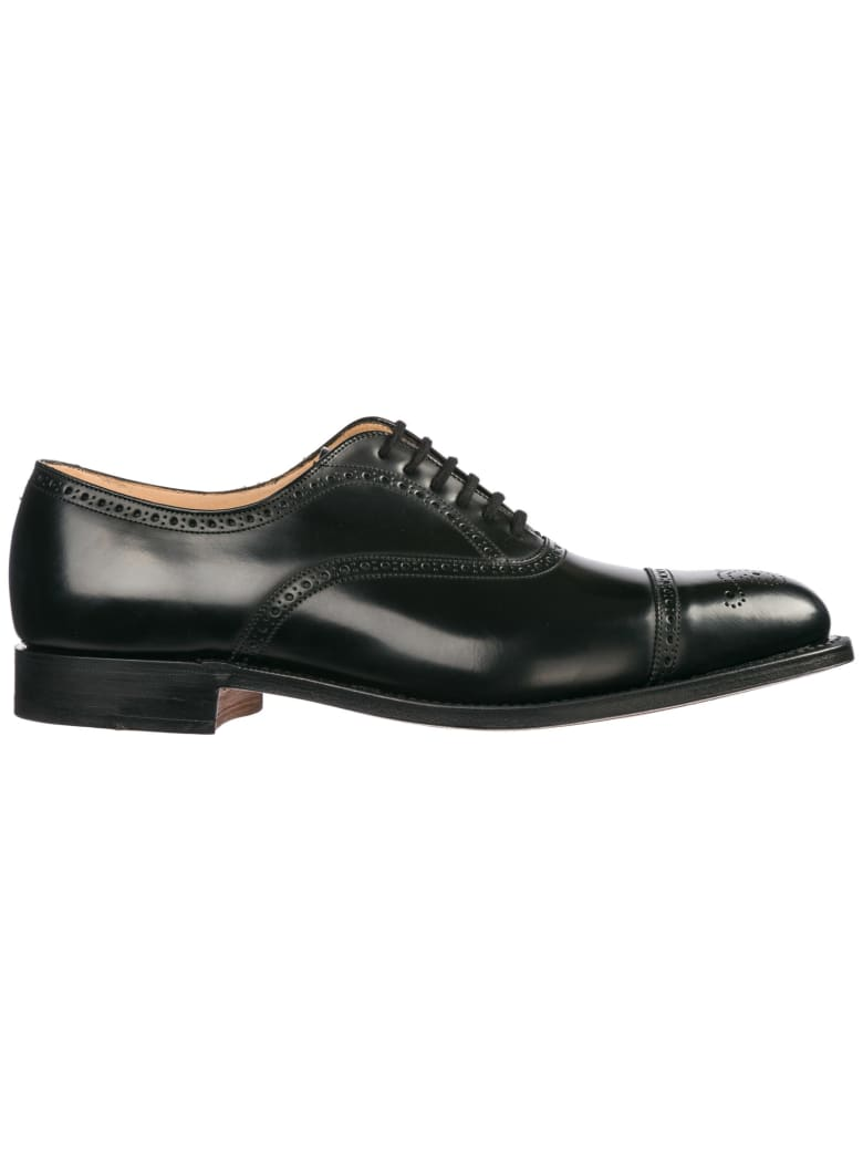 Church's  Classic Leather Lace Up Laced Formal Shoes Brogue Toronto - Black