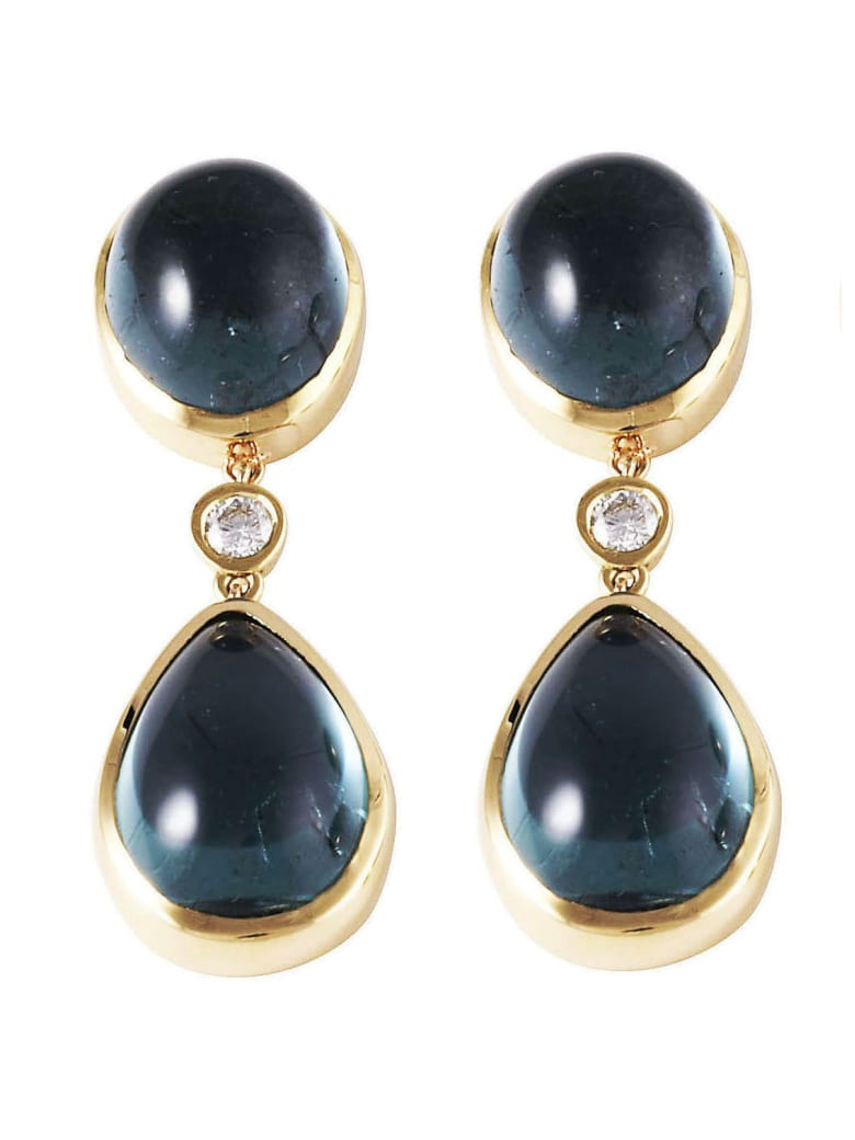 Lo Spazio Jewelry Lo Spazio Eden Rock Blu Earrings - Blue
