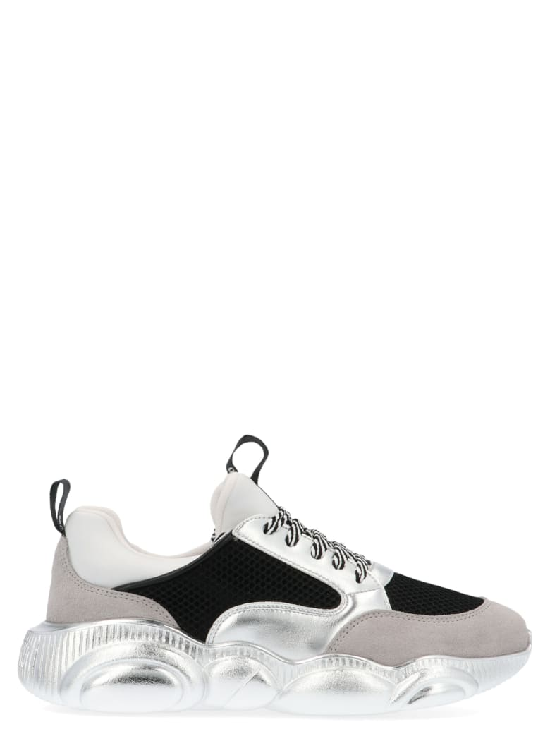Moschino Logo Print Low-top Sneakers - White