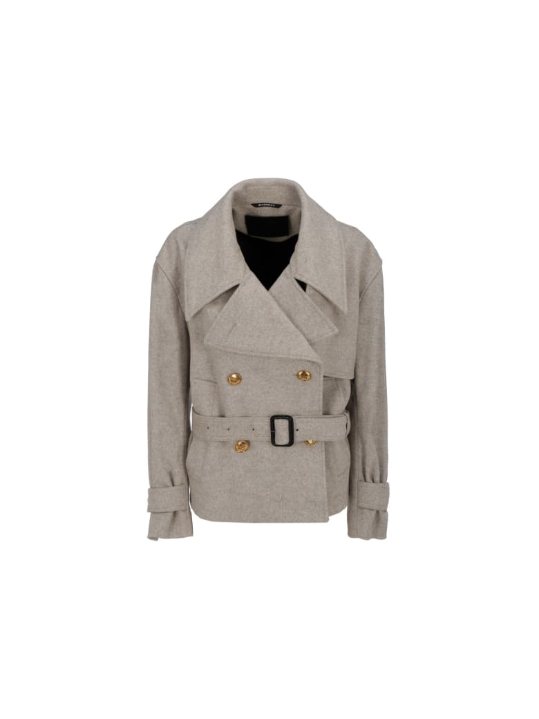 Givenchy Coat - Stone grey