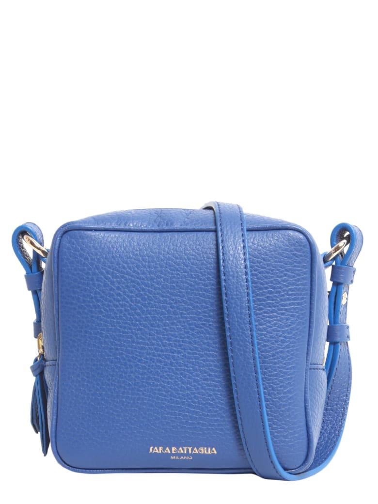 Sara Battaglia Cube Crossbody Bag - BLU