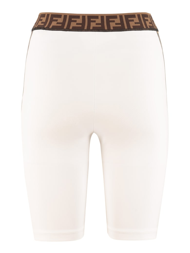 Fendi Techno Fabric Shorts - White
