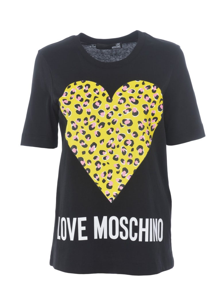 Love Moschino Short Sleeve T-Shirt - Nero