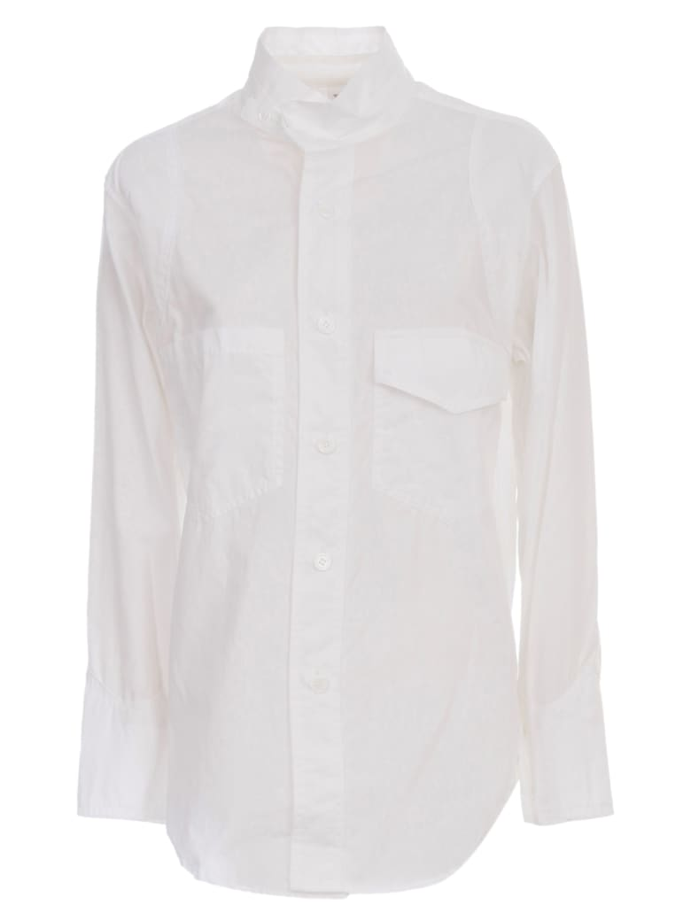 Y's U Military Shirt W/pockets - White