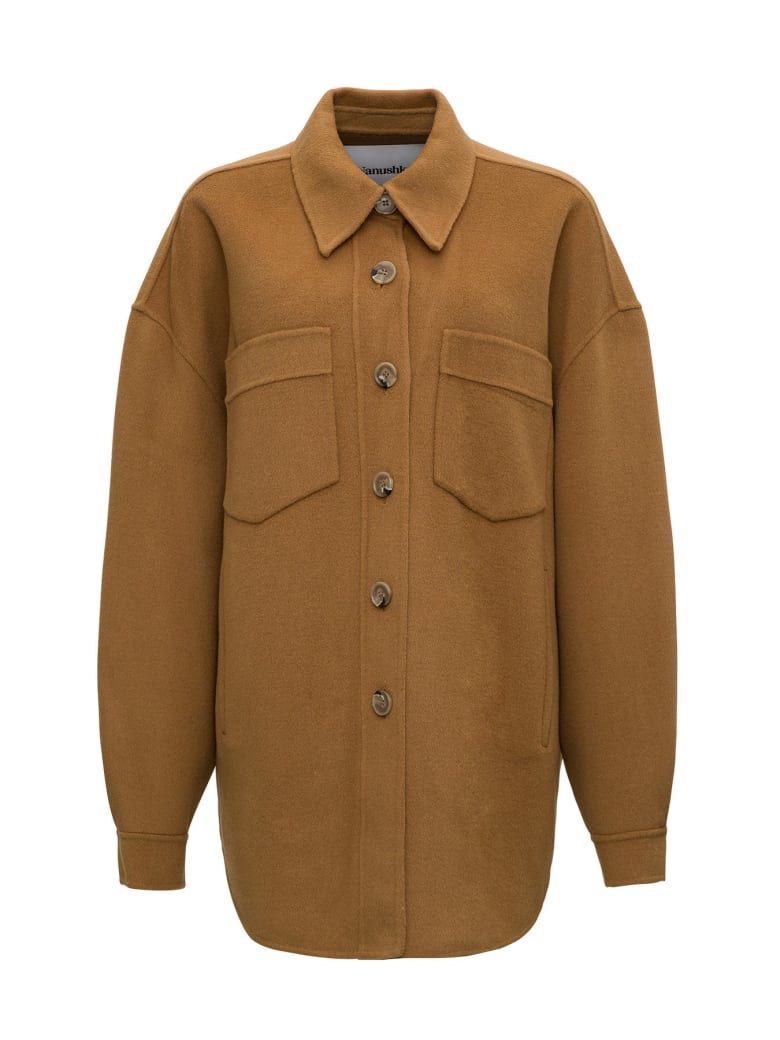 Nanushka Wool & Silk Oversize Jacket - Beige