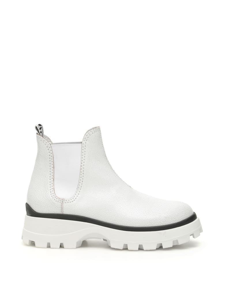 Miu Miu Crackle Booties - BIANCO (White)