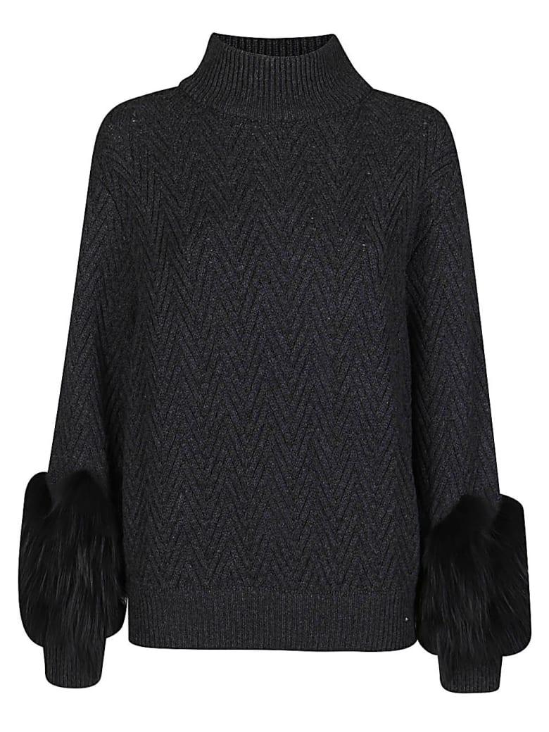 Agnona Dark Grey Cashmere Jumper - Dark grey