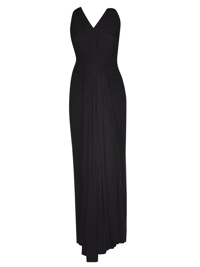 Rick Owens Lilies Gathered Detail Dress - Black