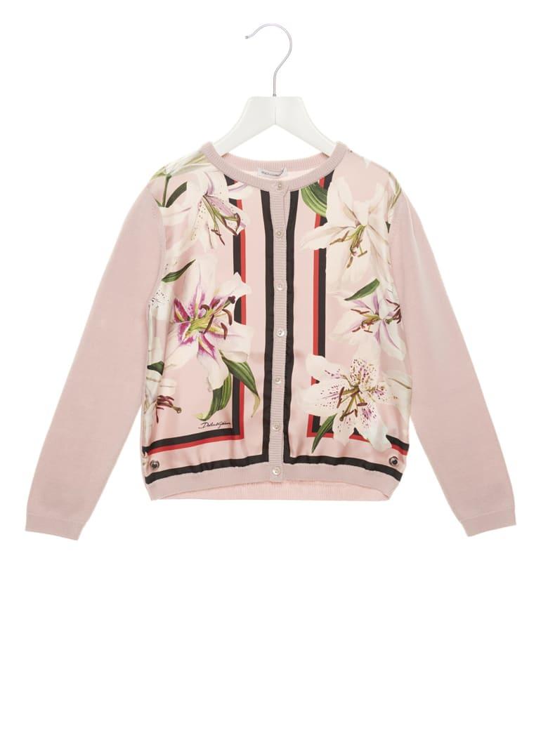 Dolce & Gabbana 'gigli' Cardigan - Pink
